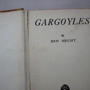 Accents - Gargoyles Ben Hecht Vintage Yellow Hardcover Book
